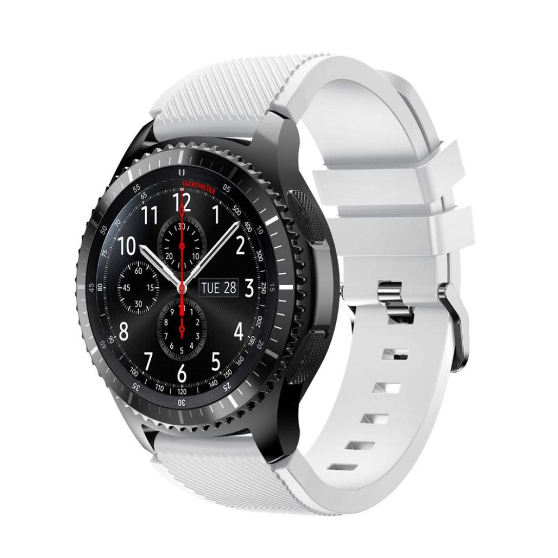 For Samsung Gear S3 Frontier New Fashion Sports Silicone Bracelet Strap Band,Outsta Watch Band Wrist Strap Watch Accessories Bracelet Best Gift 22mm (White)