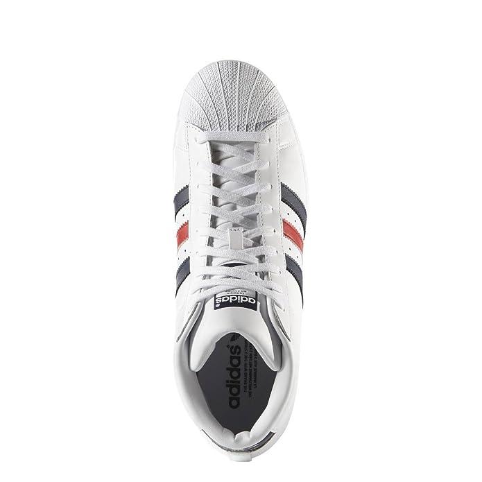 Adidas hombre  originales para hombres modelo Pro Superstar formadores en blanco