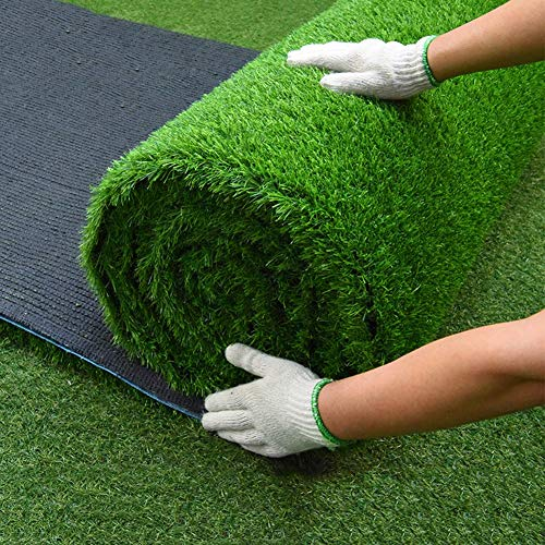 ALGWXQ Artificial Turf Not Easily Deformed Resistant To Tear Football Field Rooftop School Fake Grass, 2 Colors, 3…