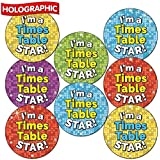 Holographic 'I'm A Times Table Star' School Teacher Reward Stickers 25 Millimetre x 90 - Primary Teaching Services
