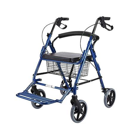 Estándares y Ligeros Caminante Andador para mayores de transporte con asiento y 4 ruedas - Ligero