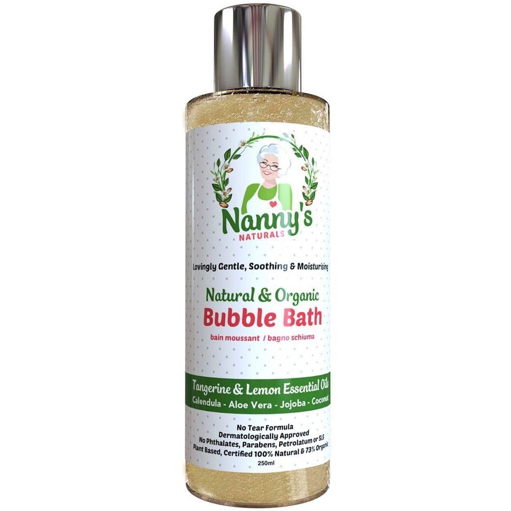 Bubble Bath | 100% Natural 76% Organic | Tangerine & Lemon | Great for Kids, Babies, Children & Adults Nannys Naturals