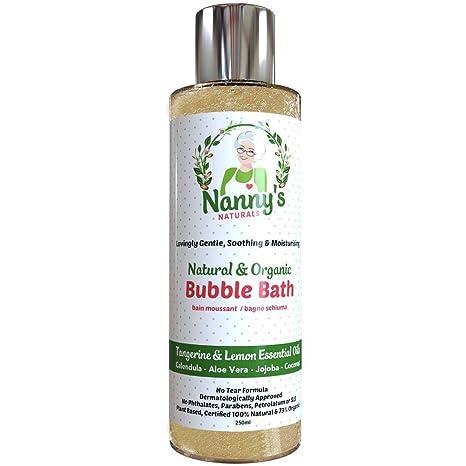 Baño de burbujas | 100% natural 76% orgánico | Mandarina y limón | Ideal