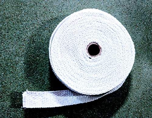 Motorcycle Protection Exhaust Header Wrap Roll White Pipe Heat Tape 1