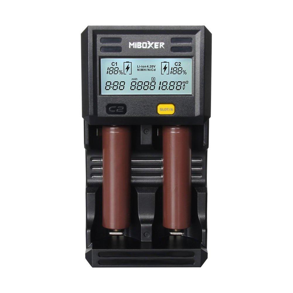 Bazaar Miboxer C2-6000 LCD Display Rapid Smart Batterie Ladegerät für Li-Ion   IMR   INR Batterie 2Slots US Stecker