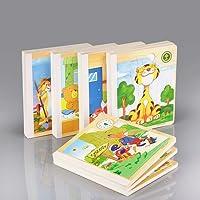 Ahşap Kitap Puzzle Defter 6 Sayfa (1 Kitap - 6 Puzzle) Montessori