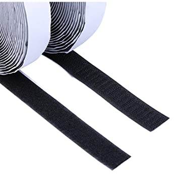 """1/"""" 5 Yards 15 Feet Self Adhesive Tape Hook and Loop Fastener Extra Sticky Back"""