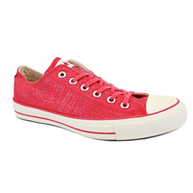 e8a571e1fcdf Converse Chuck Taylor All Star Lo Geo Sparkle 532138C Womens Laced Canvas  Trainers Raspberry - 6  Amazon.co.uk  Shoes   Bags