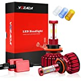 LEDヘッドライト 新車検対応 4面発光 CSPチップ H11 12000LM 120W 2年保証 二重放熱 静音 IP68防護 360度調整可 取付簡単 3600k 6500K 8000K フォグランプ (H11)