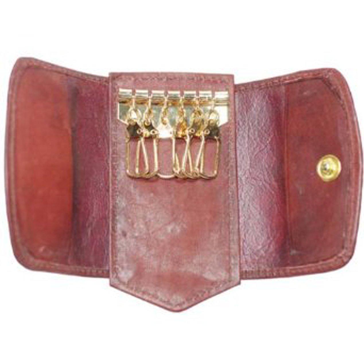 "Marshal Genuine Leather Key Holder Size 4/"" x 2/""#1312CF"