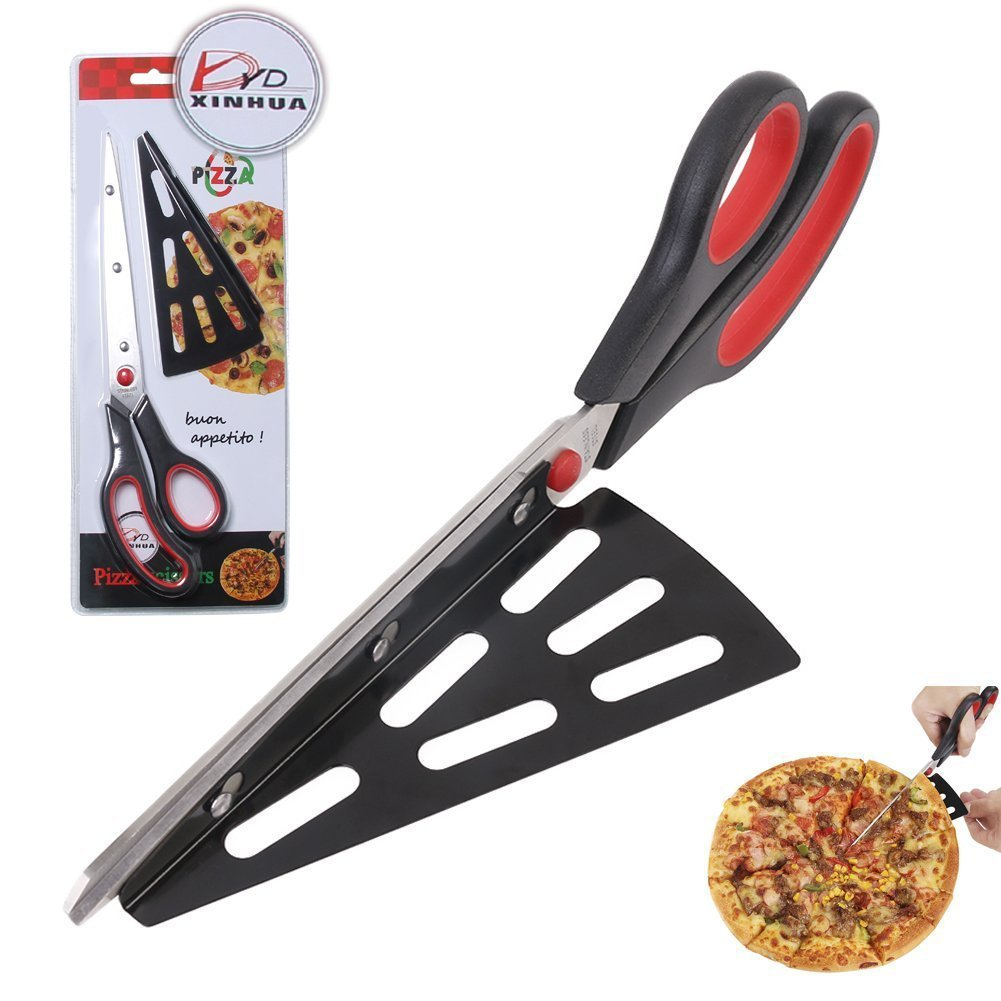 11 inch Stainless Steel Pizza Scissors by Xin Hua, Replace Your Pizza Cutter, Sharp Scissors Let You Easily Taste Serves Hot Pizza W.S.M.H