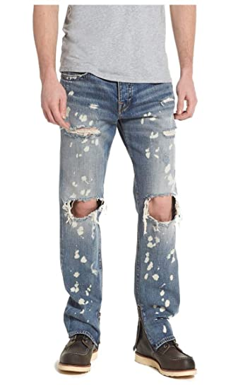 928303d077848 True Religion Rocco No Flap Single End Cyber Rebel Jeans: Amazon.co.uk:  Clothing