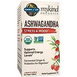 Garden of Life mykind Organics Ashwagandha Stress & Mood 60 Tablets - 600mg Ashwagandha plus Ginger & Probiotics…