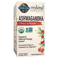 Garden of Life mykind Organics Ashwagandha Stress & Mood 60 Tablets - 600mg Ashwagandha...