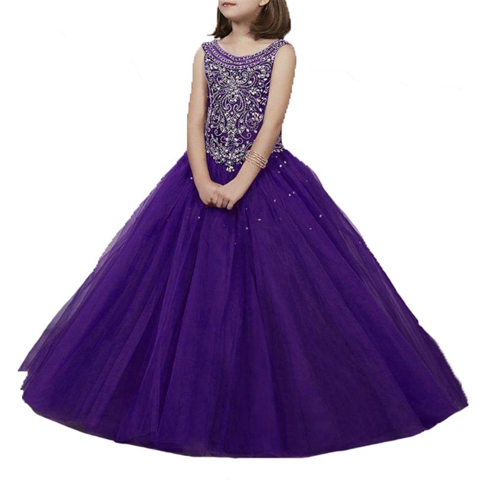 Yang Princesa Niñas Bola Rhinestone Bola Gowns Niños Niños Pageant ...