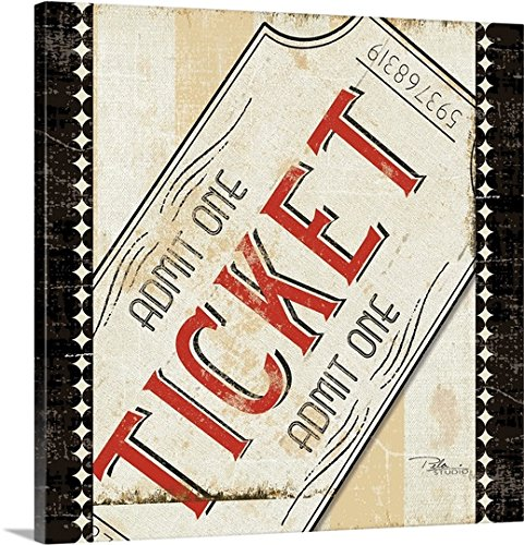 admit one ticket wall art - 4