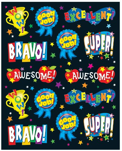 Carson Dellosa Positive Words Shape Stickers
