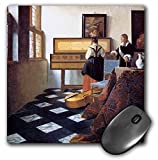 3dRose mp_175452_1 8' x 8' The Music Lesson C. 1662 Xjohannes Vermeer Girl at the Piano Mouse Pad