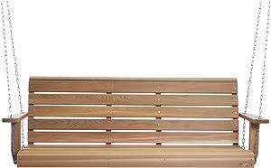 All Things Cedar Wood Porch Swing (5-Ft)