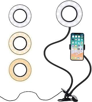 BeautySay - Anillo de luz LED para Selfies, con Soporte para ...