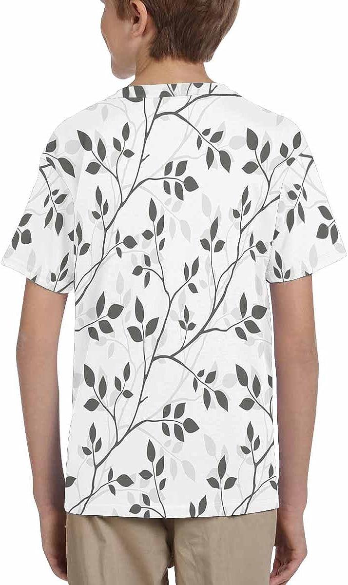 INTERESTPRINT Childs T-Shirt Leaves XS-XL