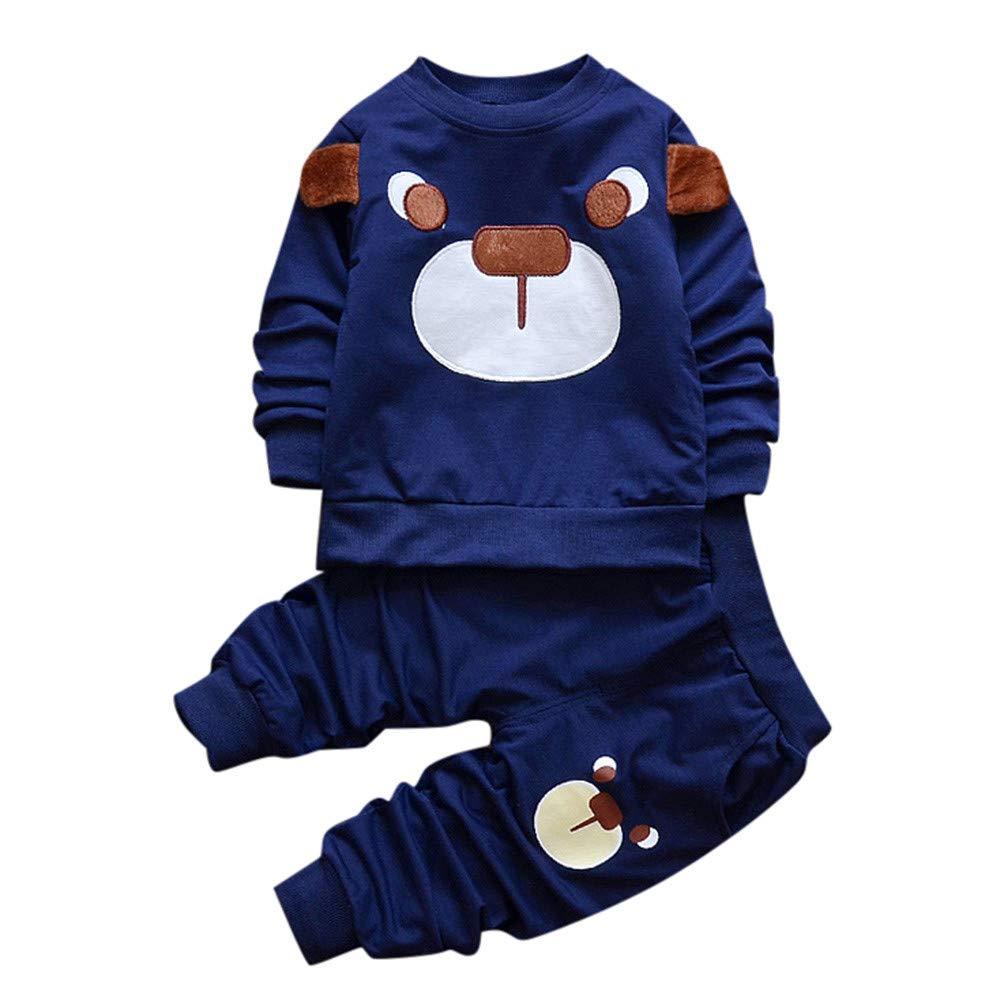 Robemon vêtement bébé Infant Adorable Infant Toddler Bébé Filles Garçons Dessin Animé Tops + Pantalons 2pcs Hoodie Sweater Suit 6-24Mois