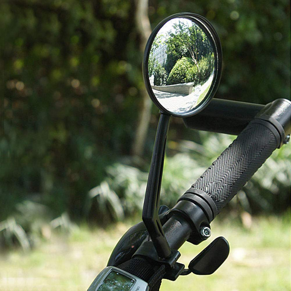 housesweet 1 Pair Cycling Riding Bicycle Bike Reflector Mirror 360 Rotation Rearview Mirror
