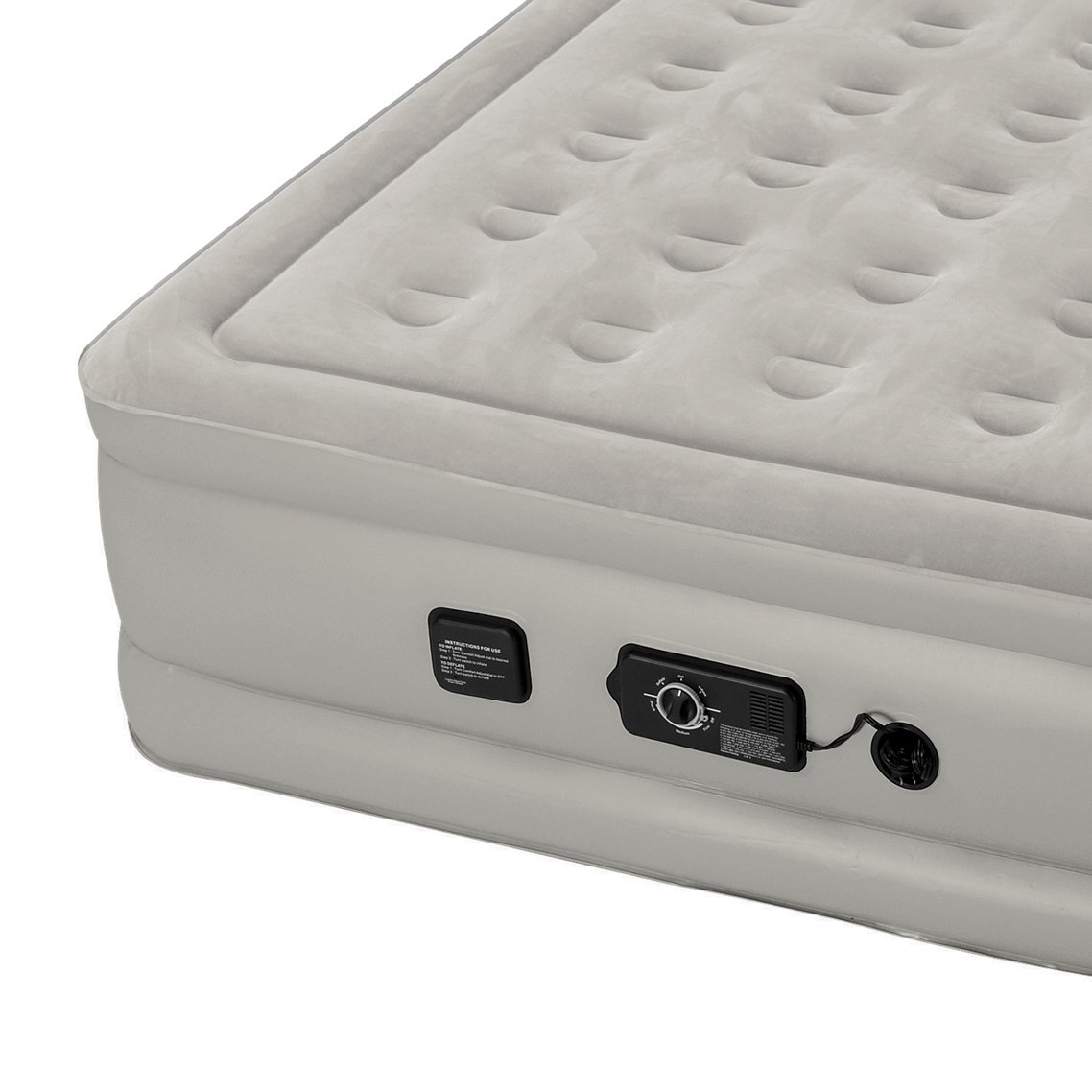 Insta-Bed Raised Air Mattress with Neverflat Pump, Grey, Full by Insta-Bed (Image #4)