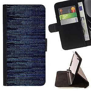 Momo Phone Case / Flip Funda de Cuero Case Cover - Patrón Hacker Azul;;;;;;;; - Samsung ALPHA G850