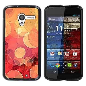 YiPhone /// Prima de resorte delgada de la cubierta del caso de Shell Armor - Cool Retro Red Bokeh - Motorola Moto X 1 1st GEN I XT1058 XT1053 XT1052 XT1056 XT1060 XT1055