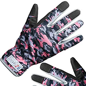 Garden Gloves Women Premium, For Gardening, Roses & Yard Work with Protective Grip and Breathable Microfiber with Touchscreen. Limited Offer, Buy Now!