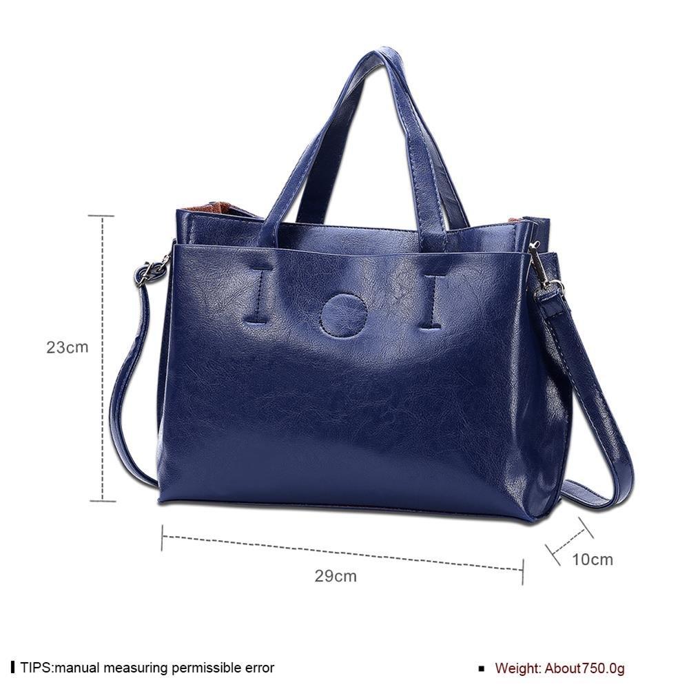 Damen-Mode-Handtasche Satchel Schwarz , Blau