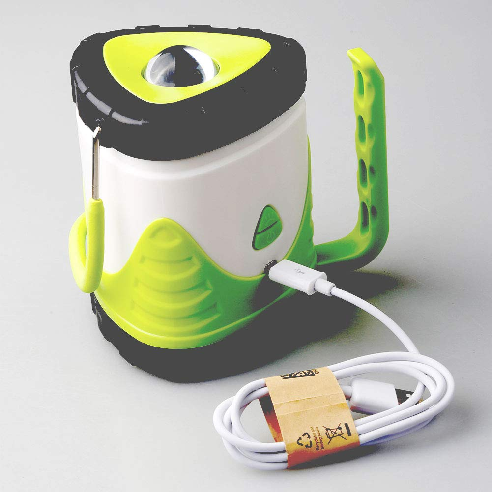 Outdoor Camping Multi-Purpose Retractable Horse Light USB Charging Multi-Function Tent Light-Green