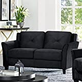 Lifestyle Solutions Harrington Loveseat in Black