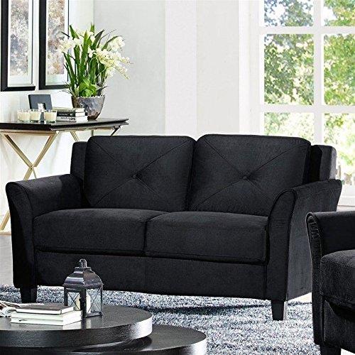 Lifestyle Solutions Harrington Loveseat in Black