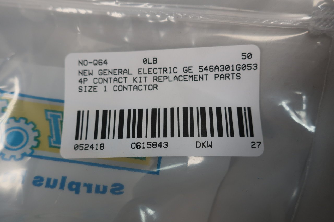 General Electric GE 546A301G053 Contact KIT Size 1 Motor ...