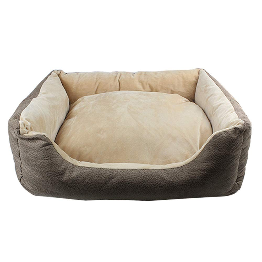 Brown Large Brown Large 5GHjkj Four Seasons Universal Pet Nest Small And Medium Pets Soft And Comfortable Warm Plus Cotton Dirty Pet Cat Pet Kennel (color   BROWN, Size   L)