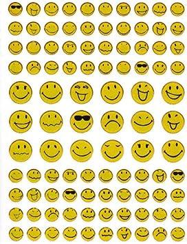 98 pegatinas de Smiley Smilies, color amarillo, 1 hoja de 135 ...