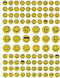 SMILIES SMILEY GLITTER decoration MÉTALLIQUE artisanat jeu Stickerbogen autocollant 10 x 13,5 cm
