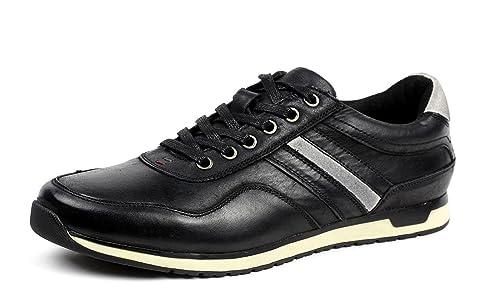 Hombre Cuero Casual Lace Up Comodidad Zapatillas Deporte Zapatos Moda: Amazon.es: Zapatos y complementos
