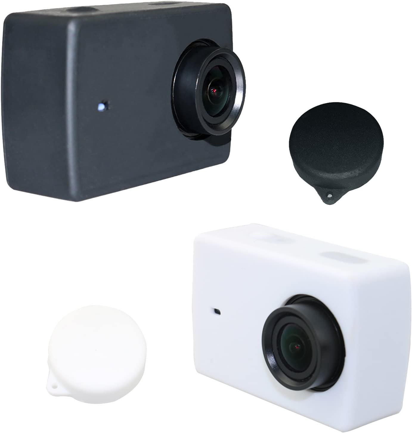 Color : Purple Silicone Lens Cap for Xiaomi Yi//GoPro Hero4 // 3+ // 3 Black for DJI Gopro Action Camera