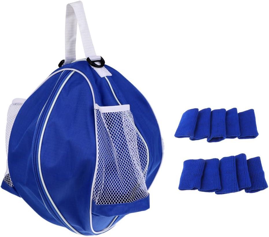 Bolso de Hombro Impermeable de Baloncesto con 10pcs Mangas de Protector de Dedo