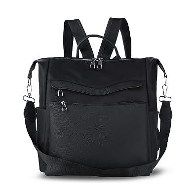 0500c4d72d6 Women Backpack Purse Waterproof Nylon PU Leather Anti-theft Rucksack  Lightweigh Shoulder Bag Ladies Travel bags