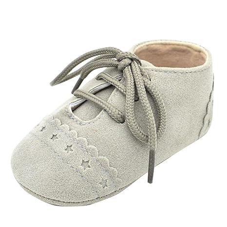 Zapatos de bebé, Xinantime Zapatos del niño del bebé Zapatillas Antideslizantes Suela Blanda Lace Up