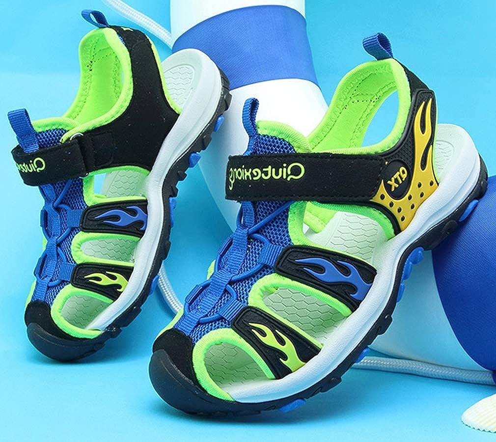 VECJUNIA Boys Closed-Toe Athletic Water Sandals Shoes Little Kid//Big Kid