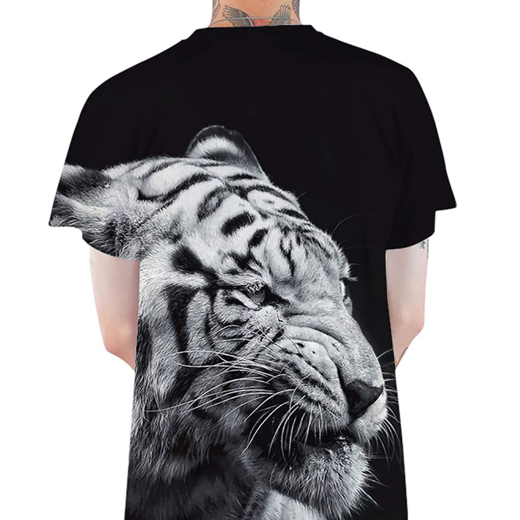 Mens Premium Fashion T-Shirt,MmNote Tiger Print Loose Cool Quick Original Classic Fit Simple Short Sleeve