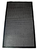 New Star 1 pc Heavy Duty Black 36x60 inch Restaurant / Bar Anti-Fatigue Rubber Floor Mat