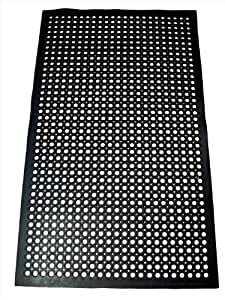 restaurant kitchen floor mats new 1 pc heavy duty black 36x60 inch 4782