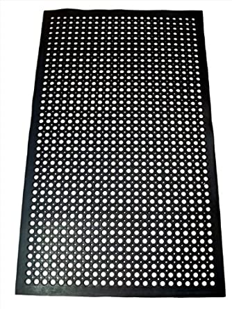 Shop Rubber Cal Fine Rib 36 Inch Wide Black Rubber Flooring Mat 3 X 20 On Sale Overstock 8255059