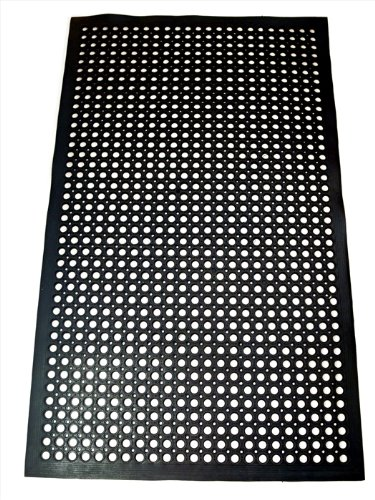 New Star 1 pc Heavy Duty Black 36x60 inch Restaurant / Bar Anti-Fatigue Rubber Floor Mat ()